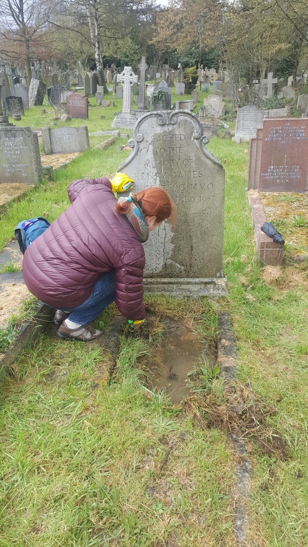 Фото-отчет об уборке могилы КАРСАВИНОЙ Тамары Платоновны